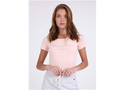 PEPE JEANS נשים - חולצת מותג ורודה
