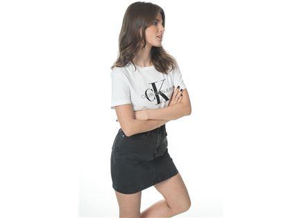 CK נשים // חצאית ג'ינס דנים שחורה