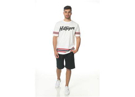 TOMMY HILFIGER גברים // חולצה לבנה לוגו