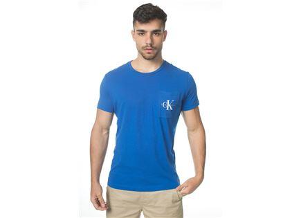 CK גברים // טי - שרט לוגו כיס כחולה