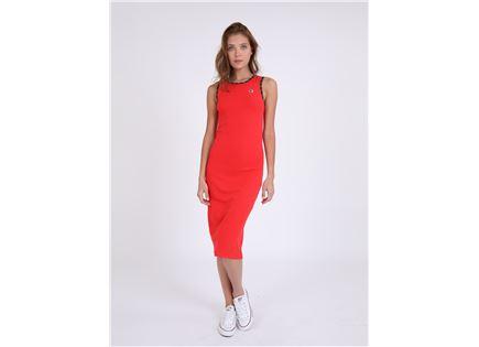 CHAMPION נשים - שמלת מידי אדומה