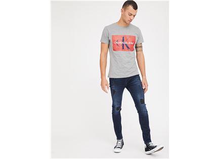 ג'ינס קרעים פפה ג'ינס כחול לגברים -  PEPE JEANS HARDY IL DENIM