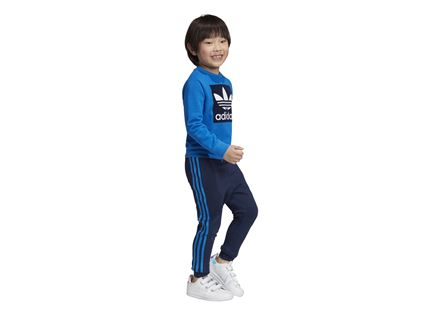 חליפה אדידס כחול לילדים - ADIDAS CREW SWEATSHIRT SET