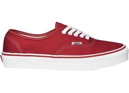 VANS יוניסקס// Authentic red