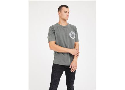חולצה טומי הילפיגר אפורה לגברים -  TOMMY HILFIGER TJM WASHED GRAPHIC TEE