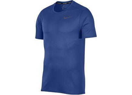 חולצה נייקי כחולה לריצה לגברים - NIKE BREATHE MEN'S RUNNING TOP