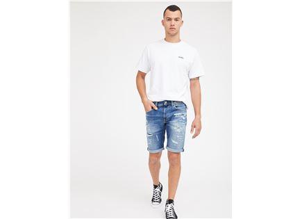 ג'ינס קצר פפה ג'ינס כחול לגברים -  PEPE JEANS JAGGER SHORT
