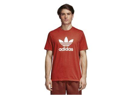 חולצה אדידס אדום לגברים - ADIDAS TREFOIL TEE