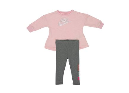 סט נייקי לתינוקות - NIKE MULTI SHINE LEGGING SET CARBON HEATHER