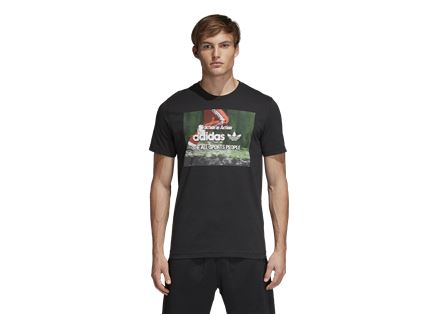 חולצה אדידס לגברים - TRACTION PHOTO BLACK