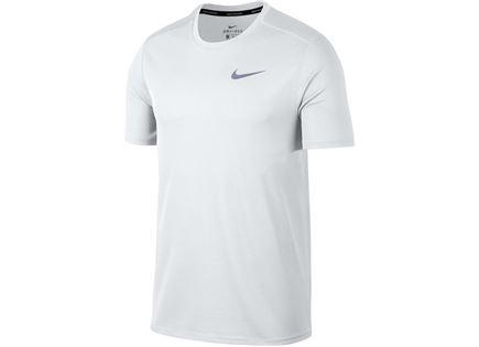 חולצה נייקי לריצה לבנה לגברים - NIKE BREATHE MEN'S RUNNING TOP