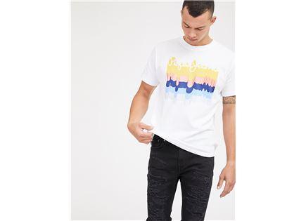 חולצה פפה ג'ינס לבנה לגברים - PEPE JEANS LIAM TEE