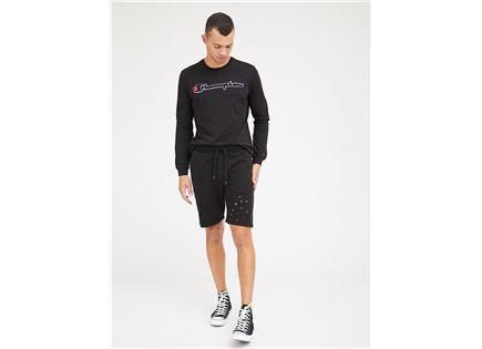 מכנסי ברמודה פפה ג'ינס שחור לגברים - PEPE JEANS SPORTY IL SHORT