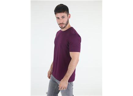חולצת קלווין קליין לוגו סגולה לגברים