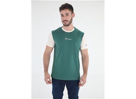 חולצת צ'מפיון קצרה ירוקה לגברים