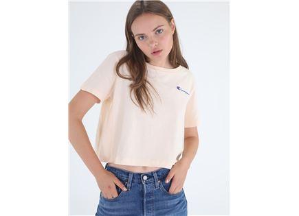 חולצת צ'מפיון קצרה לוגו לנשים