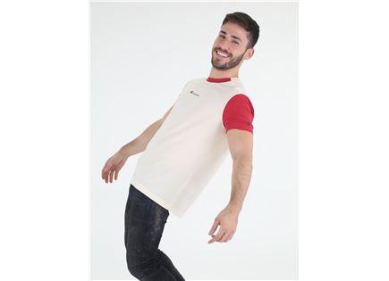 חולצת צ'מפיון קצרה שמנת לגברים