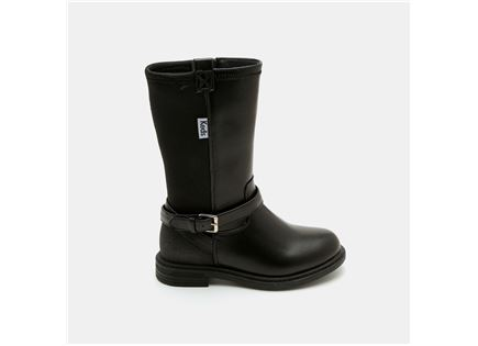 Keds - מגפיים בצבע שחור עם רצועת אבזם