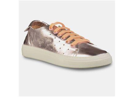 Darkwood - נעלי סניקרס עור מטאליות לנשים במבצע