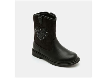 Keds - מגפיים בעיטור לב וניטים בצבע שחור