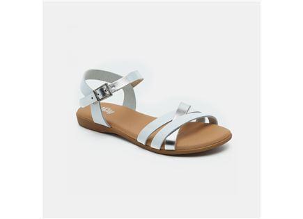 Candy - סנדלי רצועות מוצלבות בצבע לבן בש
