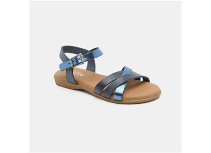 Candy - סנדלי רצועות מוצלבות בצבע כחול ב