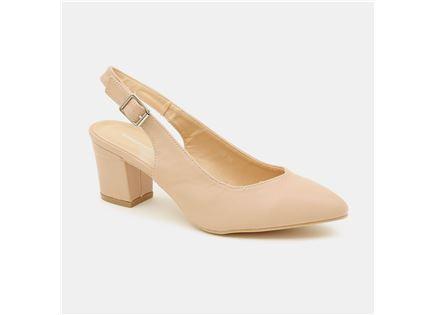 Seventy Nine - נעלי עקב בצבע פודרה עם לו