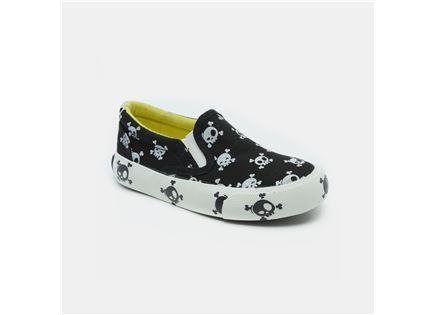 Keds - נעלי סניקרס שחורות עם הדפס גולגול
