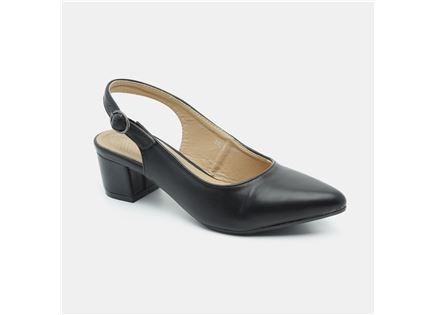 Seventy Nine - נעלי עקב בצבע שחור עם לול במבצע